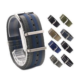 Natobelt Premium Custom Buckle 20 22 mm Watch+bands Striped Wrist Bracelet Nato Strap Army Sport Watch Bands Nylon