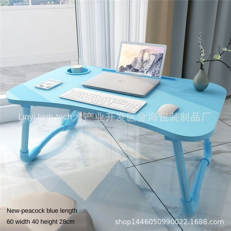 AliGan Office Furniture Multi Color Ergonomic Folding Portable Study Laptop Desk Bed Table With Slot