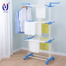 Three Layers Rectangle Collapsible Garment Rack Stand Dryer Of Clothes Hanger