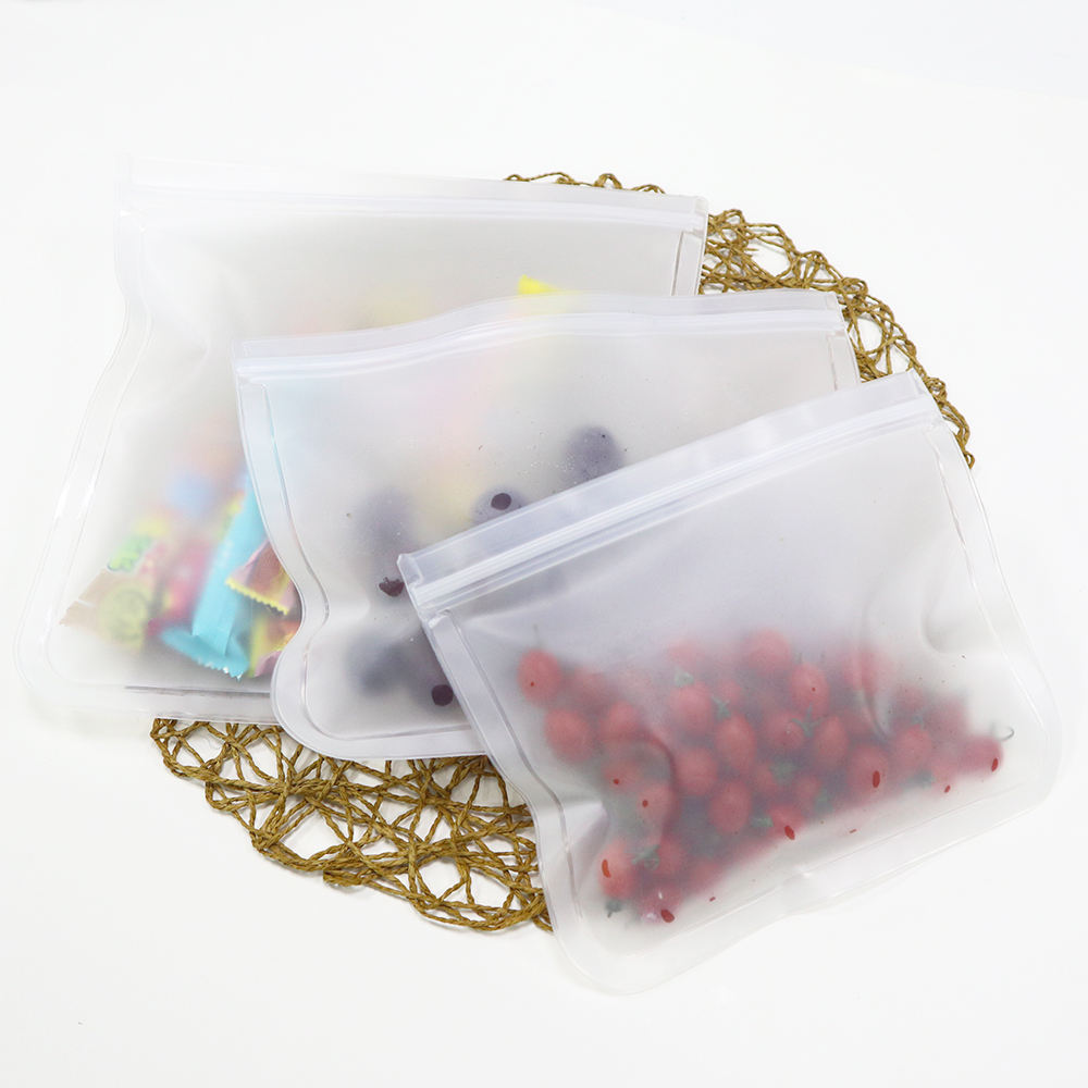 ecofriendly zip lock reusable custom clear leakproof sandwich and snack peva food storage bag