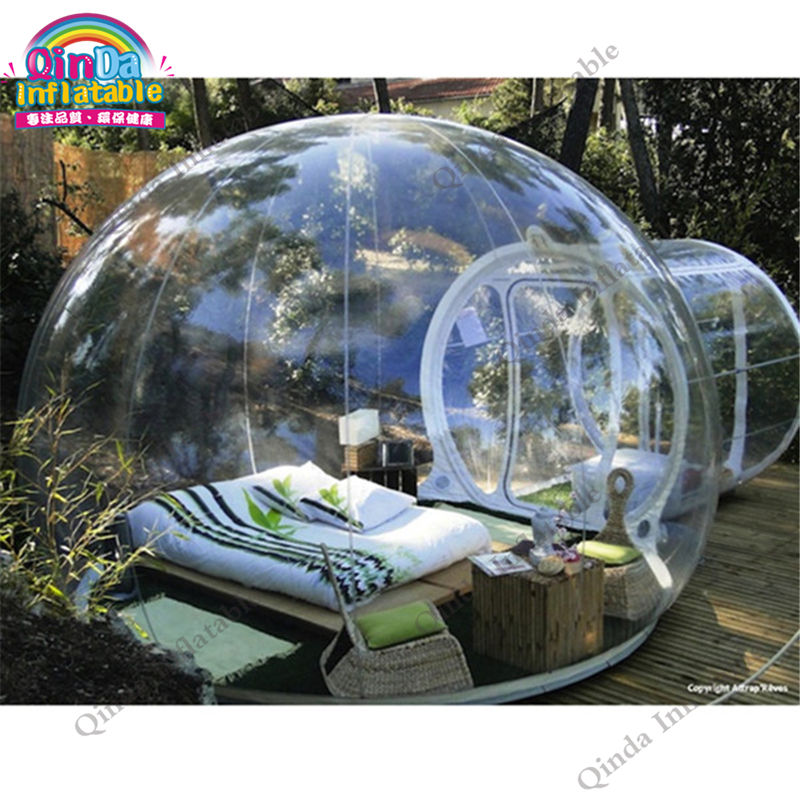 Outdoor transparent tent for camping equipment ,clear dome pavilion ,inflatable bubble tent