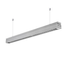 24w office restaurant nordic interior simple decoration black aluminum housing hanging suspension led linear lamp