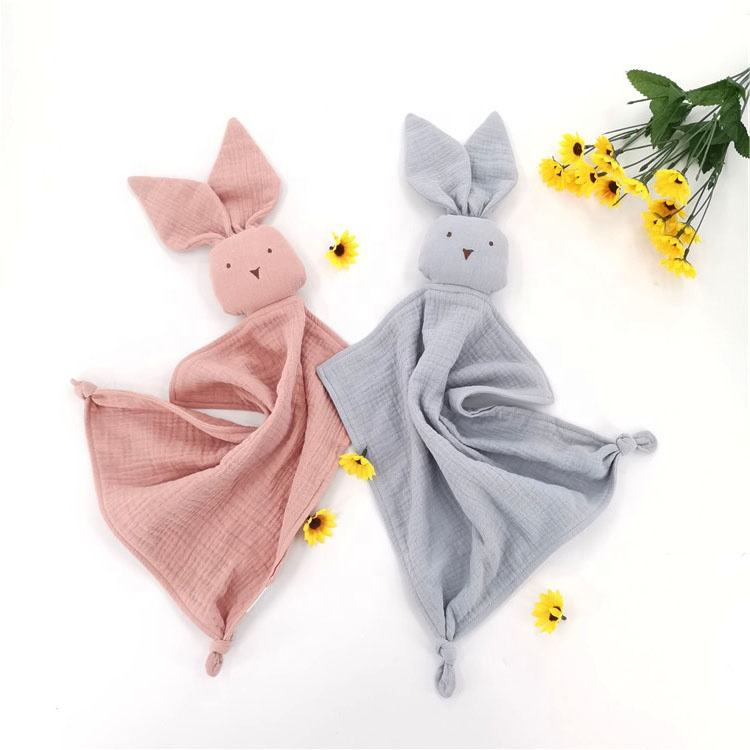 Organic Cotton Cute Bird Knotted Baby Blanket Comforter Muslin