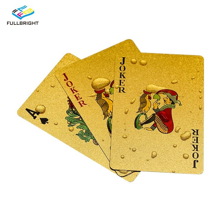 Custom Wholesale Magic Waterproof Print Plastic Card Game Black Yellow Gold Foil Table Poker Playing Card