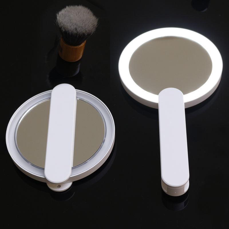 Custom Foldable Hand Held Mini Makeup LED Travel Pocket Mirror for Beauty Cosmetic
