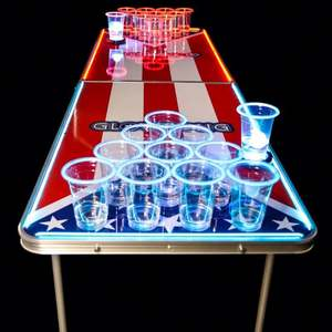 High Quality Newest Led Portable Beer Table Folding Outdoor Beer Pong Table