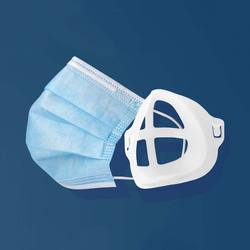 Comfortable breathing plastic 3d washable reusable mask holder bracket for adult and child