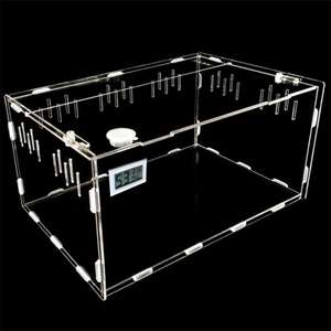 Foldable Pet Cage Carriers Houses Clear Acrylic Reptile Box