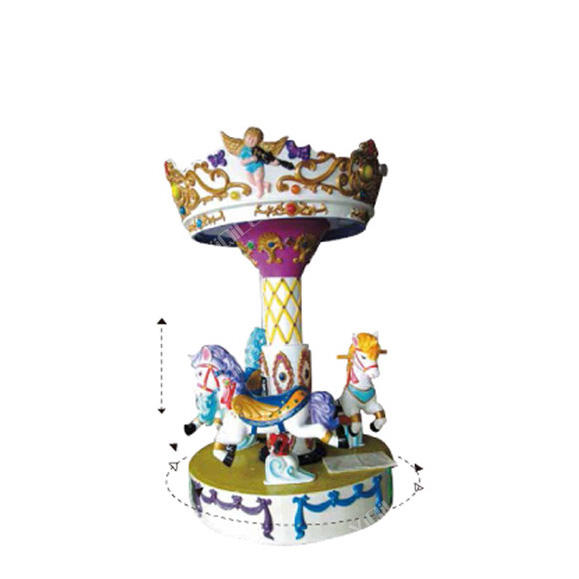 3 Paard Carrousel/Mini Merry Go Round/Mini <span class=keywords><strong>Kinderen</strong></span> <span class=keywords><strong>Kermisattracties</strong></span>