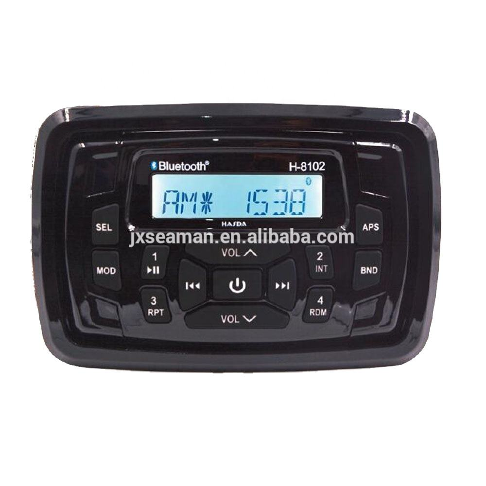Marine watertight stereo receiver ,AM/FM for for Yacht, Boat, UTV, ATV, Power Sport, Spa