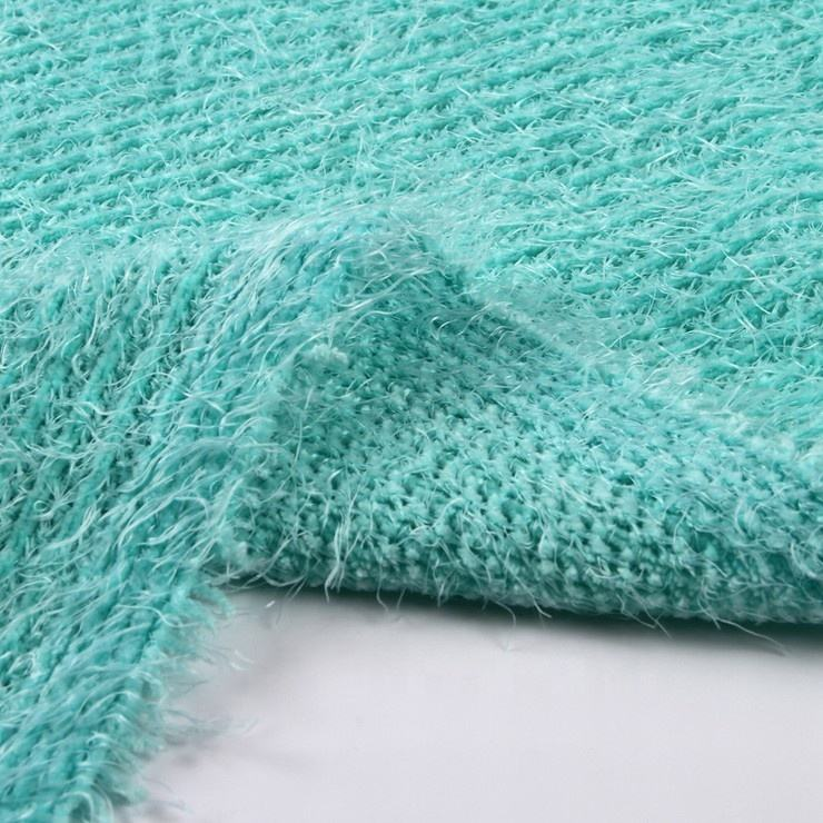 Classical style stock lot chenille 100% polyester rib knitted fabric in japan