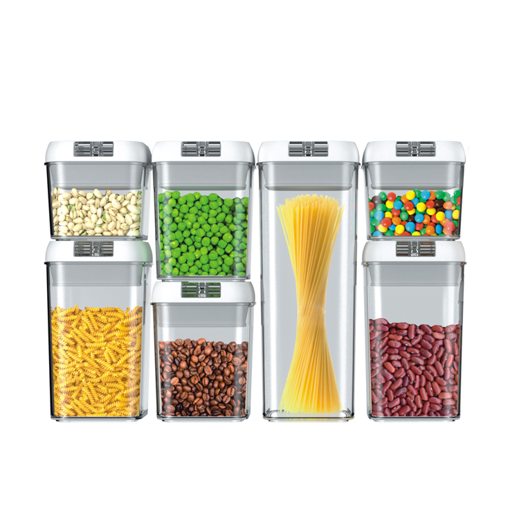 7 Pack BPA Free Plastic Bulk Food Storage Container Kitchen Organizes Airtight With Lids Cereal Container Set