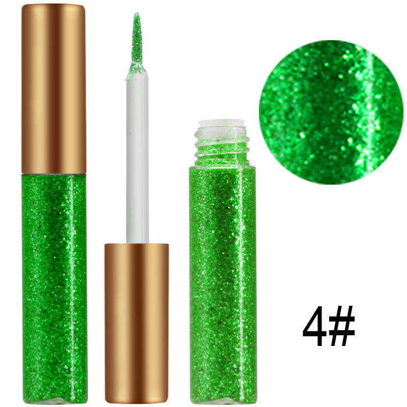 10 Color High Quality Sexy Smooth Touch Fashion Long Lasting Glitter Eyeliner Pencil Private Label Liquid Eyeliner Tube Package
