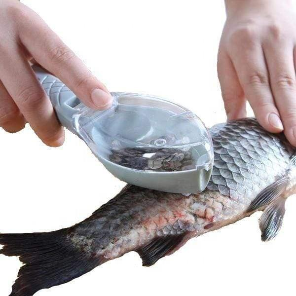 Fast Fish Scale Remover with Lid Fish Peeler