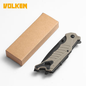 Amazon High Quality Outdoor Multifunctional Folding Knife Camping survival self-defense knife With Flint for Pocket Knife