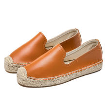 Espadrilles Women Flats Shoes Slip On Casual Ladies Shoes thick bottom Lazy Loafers Female Espadrilles
