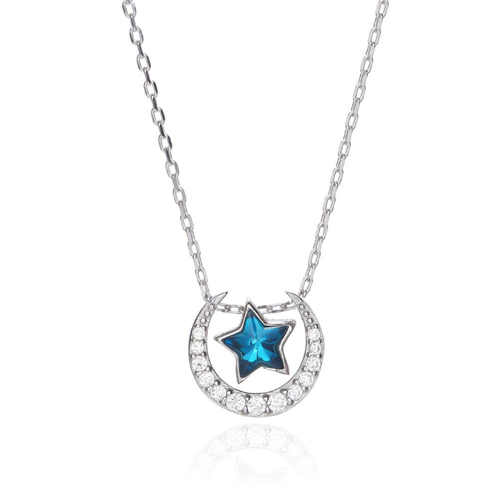 Baoyuan hot sale da moda 925 colar de prata esterlina <span class=keywords><strong>jóias</strong></span> para as mulheres menina mulher
