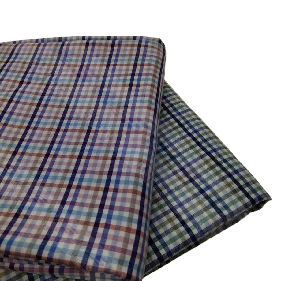 colorful check cotton poly yarn dyed fabric for Shirts 20-16