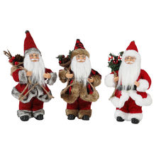 "8""Inch 3pcs christmas Santa Claus Ornaments Decoration Tree Hanging Figurines Collection Doll Pendant Small Traditional Pvc box"