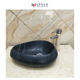 Triangle shape black marble wash basin bathroom countertop sink