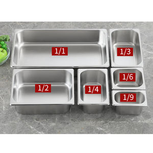 Gn Pan 1/6 Hotel Sale Supplier Star Restaurant Hospitality Trays Hotels Stainless Steel Flat Serving Food Warm Tray