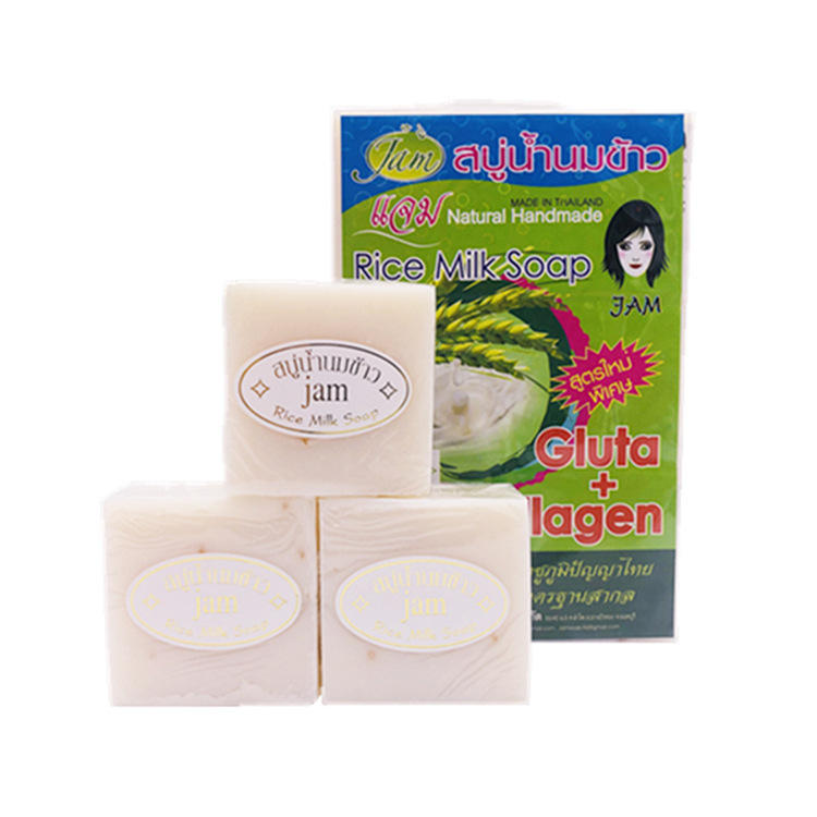 Pure natural handmade base rice milk soap bath and body personal care products