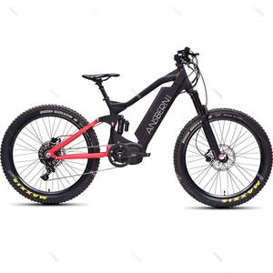 2020 New Design China Ansbern Full Suspension 48V 1000W Mid Drive Bafang G510 Electric Mountain Bike