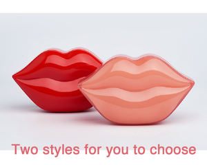 Private label fascinating red gel lip collagen plumping lip mask hydro hydrogel lip mask