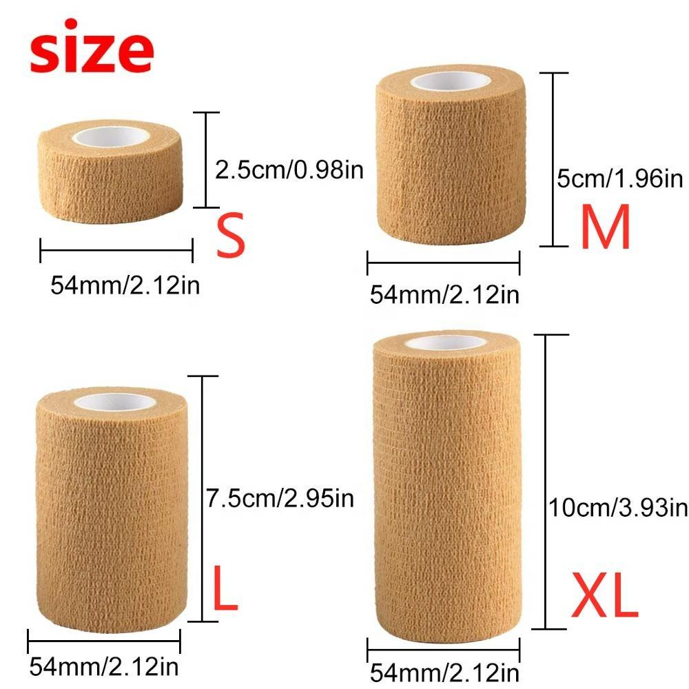 5cmX4.5m Latex Free Non Woven Medical Cohesive Elastic Self Adhesive Coban Bandage for Medical Sports Vet Wrap