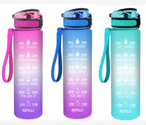 32oz Motivational Fitness Sports Water Bottle with Time Marker & Fruit Infuser & Large Wide Mouth Leakproof Durable Non-Toxic