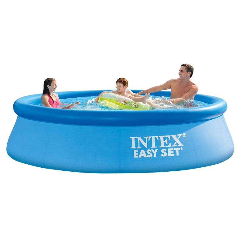 INTEX 10FT 15FT Easy Set Inflatable Above Ground Household family Swimming Pool with Filter Pump