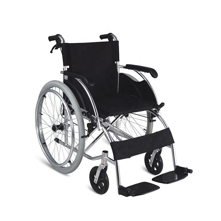 2020 health & medical light weight manual aluminum wheelchair for elderly and disabled