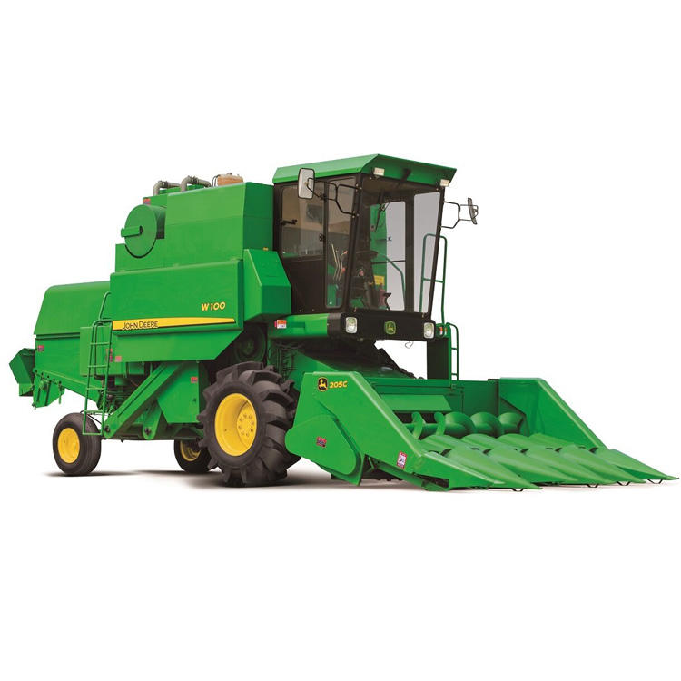 141hp high efficiency W100 corn combine harvester for sale