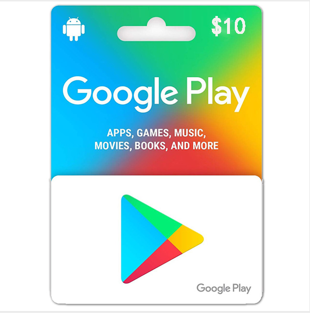 Google Play $10 USD Gift Card