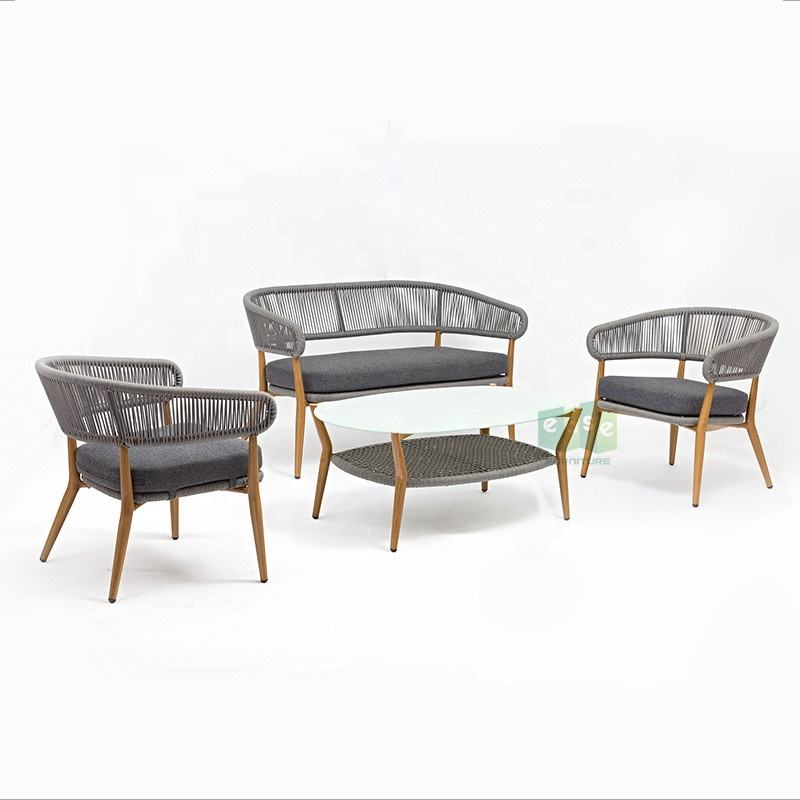 Modern Living room furniture bamboo rattan indoor sofa set
