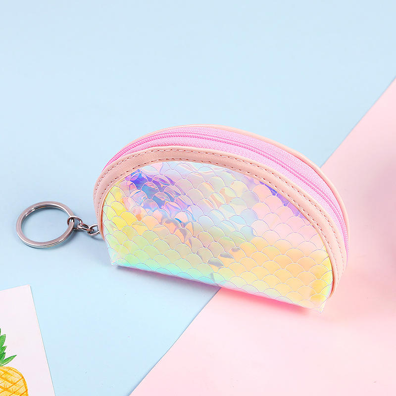 Wholesale Transparent Coin Purse laser Purses Small Fish scale Coin Wallet Lady Fashion Pattern Coin Purse