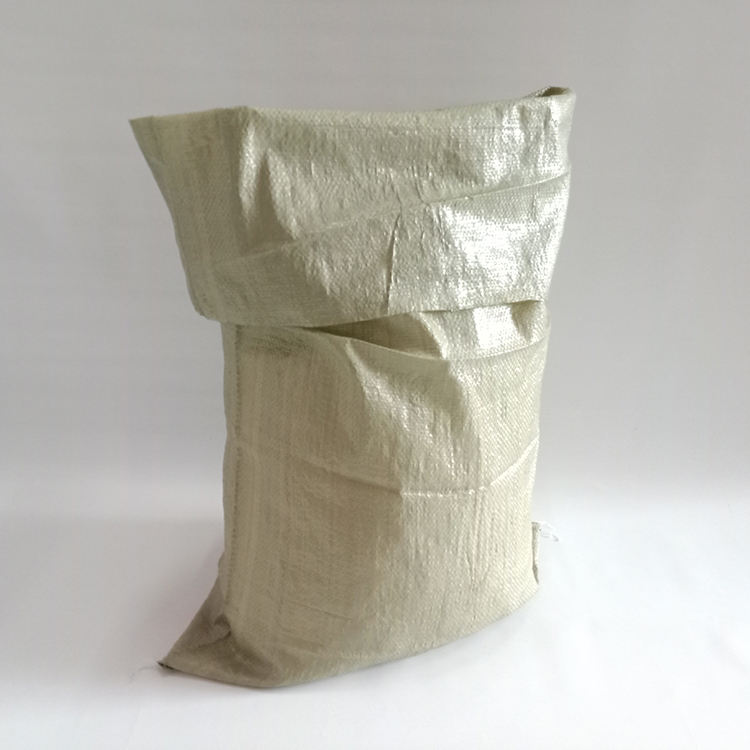 Grey green garbage pp woven big bag sack for packaging building material, coal 50*80cm
