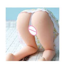 Young Girl 8.8Kg 70cm Silicone Real Love Doll Half body Tight Vagina Anus Masturbation Devices Sex Toy Sex Doll Legs