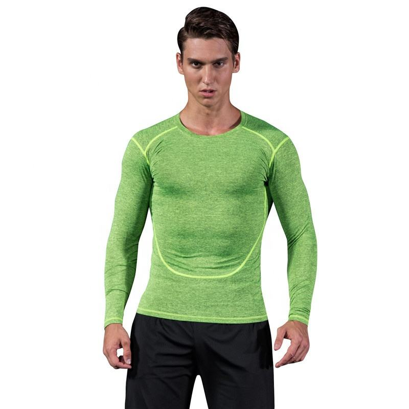 dri fit wholesale compression wear long sleeve t shirt for sport gym fitness shirt