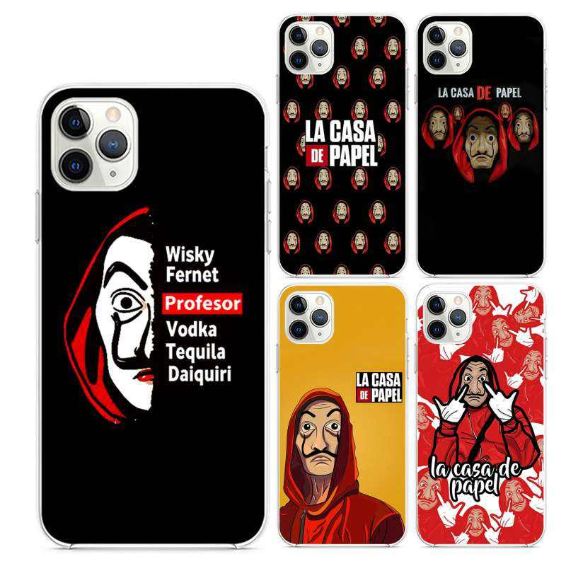 Classic European and American TV series La Casa De Papel transparent TPU printed phone case for iPhone 11 11Pro 11Pro Max Case