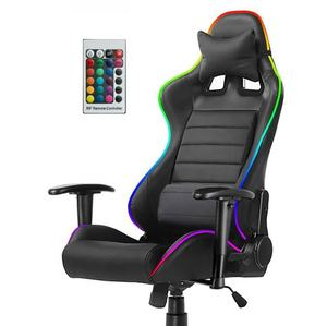 WS03 In stocked RTS GAMING chair RGB LED light racing fashional OEM produce race game office chair with speaker choiceable