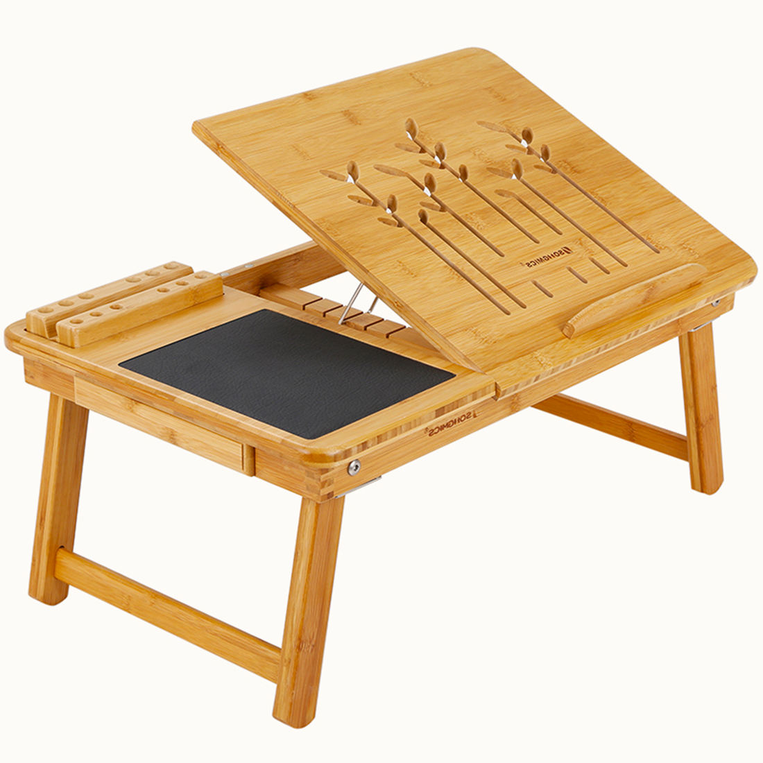 Laptop Desk Portable Bed Tray Table Notebook Modern Bed Side Multi Laptop Table Wooden Bed With Side Table