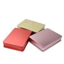 Tin Can Manufacturer Wholesale Custom Biscuit Square Tin Box Food Jar