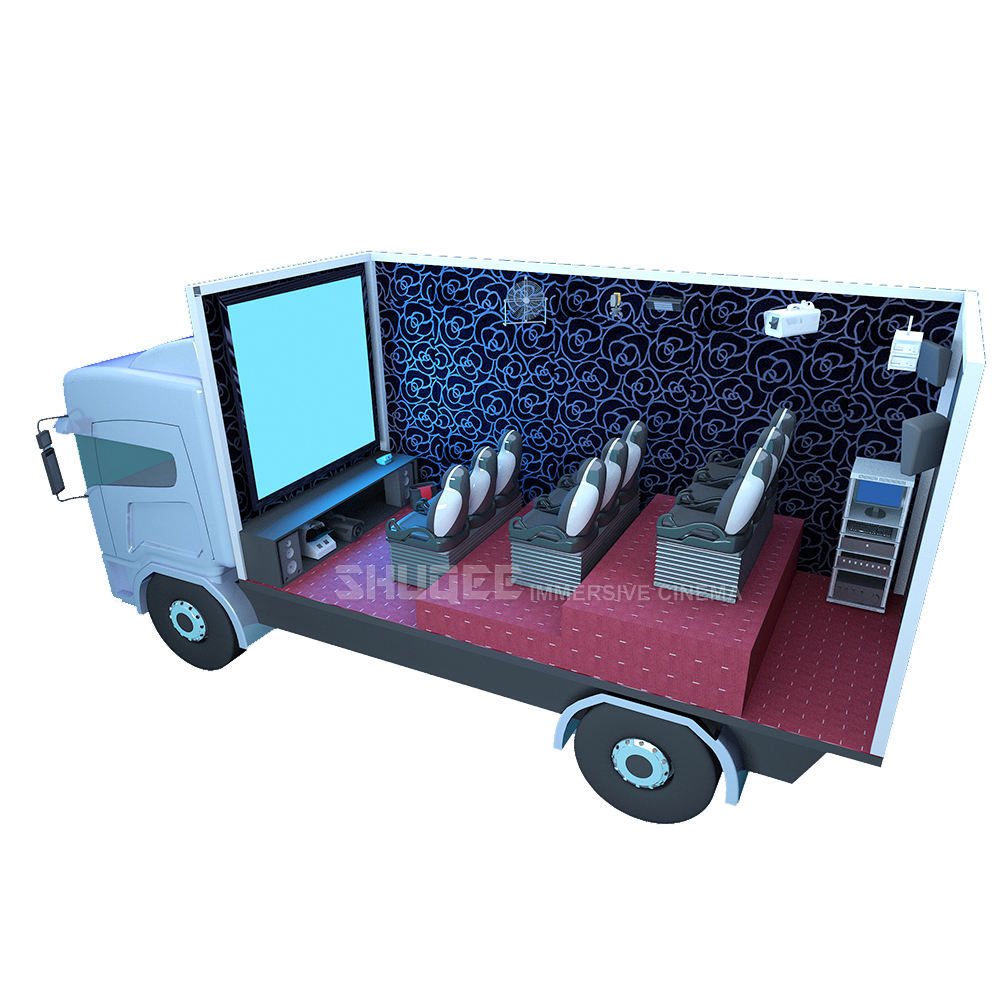 Professional Truck Mobile 7D Cinema 7D Movie Theater