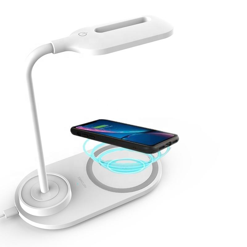 Amazon Hot Selling Cheaper Wireless Charger LED Lamp Flexible Lamp-post Universal Night Lamp Mobile Cellphone Charging Chargers