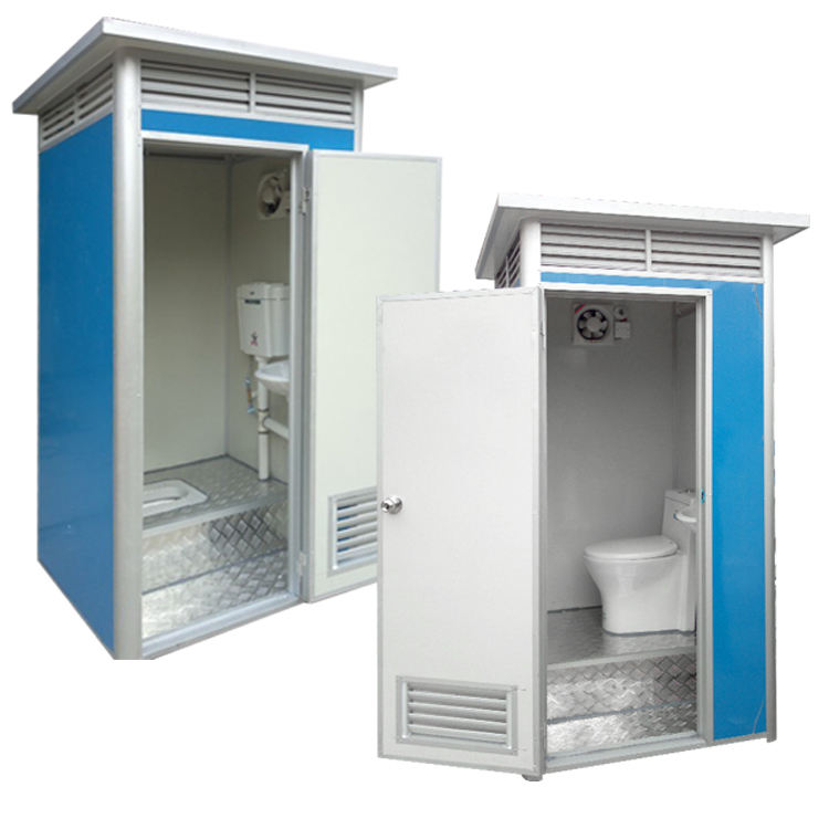 wholesale High quality Cheap Mini modular mondo moulded prefab container public mobile portable toilet
