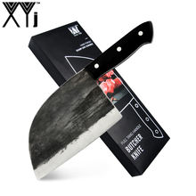 Portable German Stainless Steel Outdoor Hunting Handmade Japanese Cleaver Kitchen Knife Forged Cleaver With Sheath
