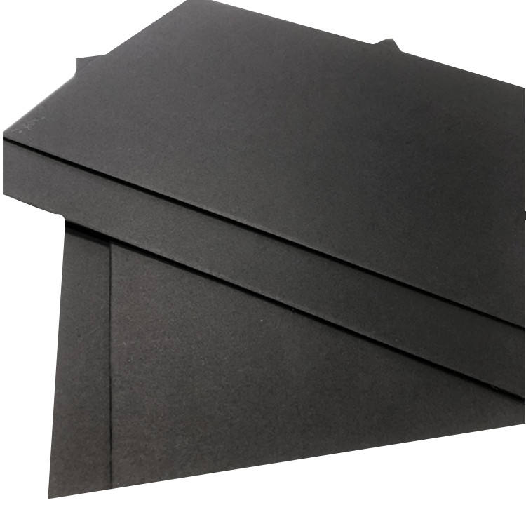 double black paper hot selling 110gr black color cardboard