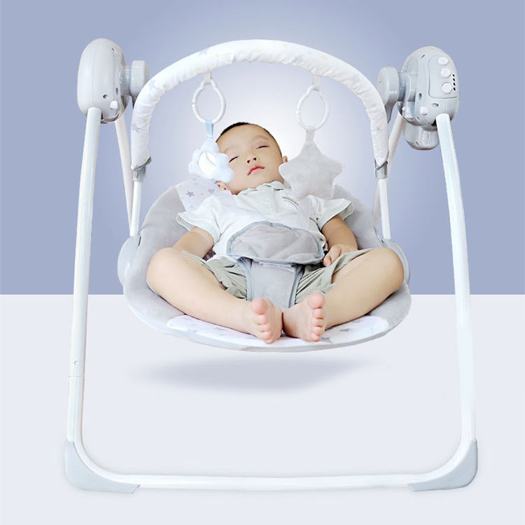 Amazon Hot Sale Adjustable Electric Newborn Furniture Cribs Baby Cradle Rocker Swing Bouncer With Vibration And Music