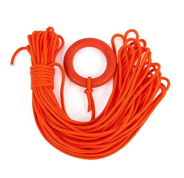 K1011 Swimming Lifeline with bracelet 30m water sports traction tube snorkeling rope rescue pool ocean swimming safety rope
